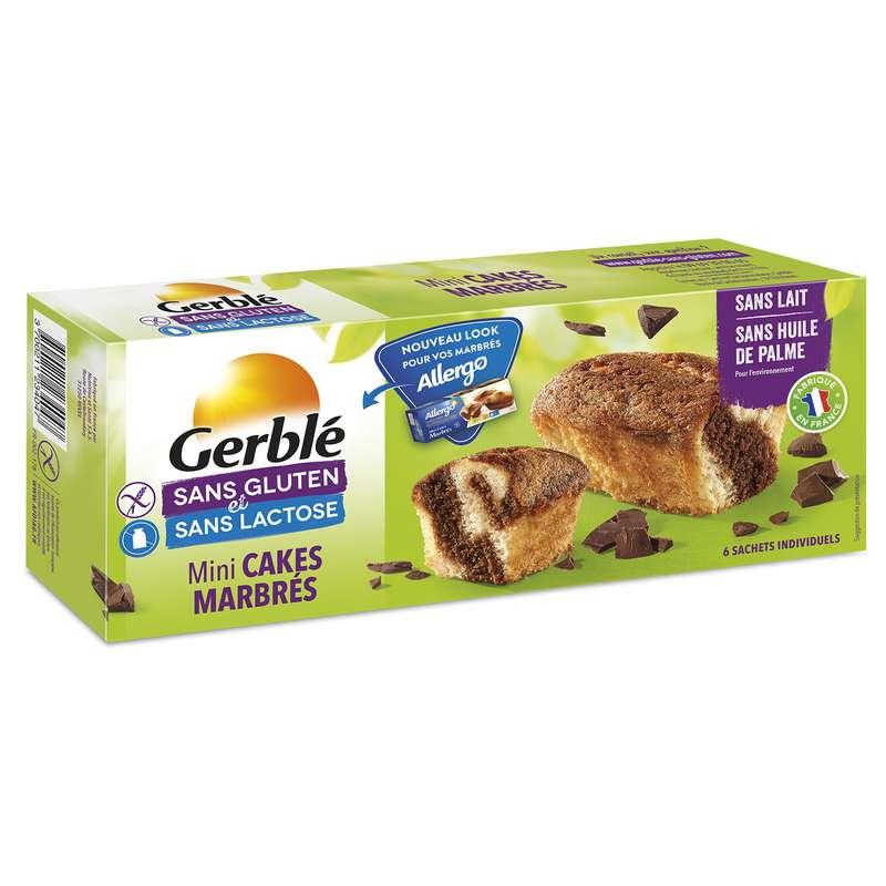 Mini cakes marbrés sans gluten & sans lactose, Gerblé (200 g)
