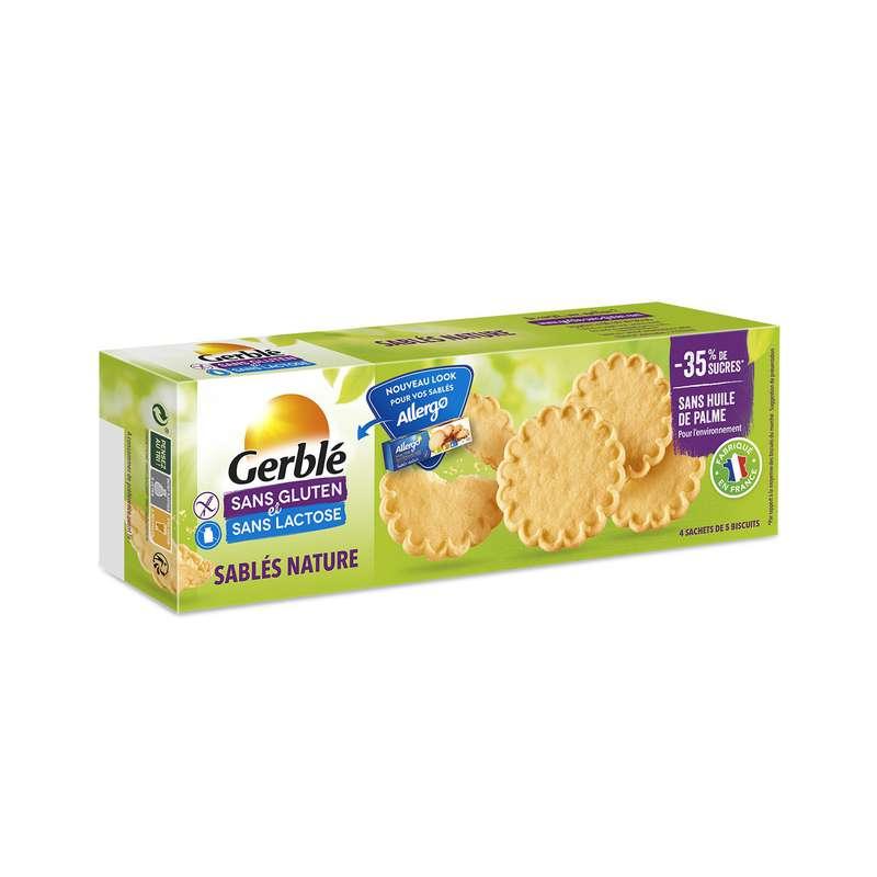 Biscuits sablés sans gluten & sans lactose, Gerblé (120 g)