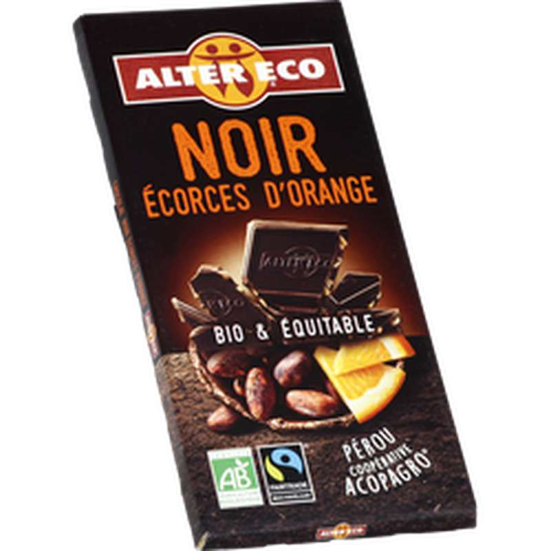 Chocolat noir Orange Bio, Alter Eco (100 g)