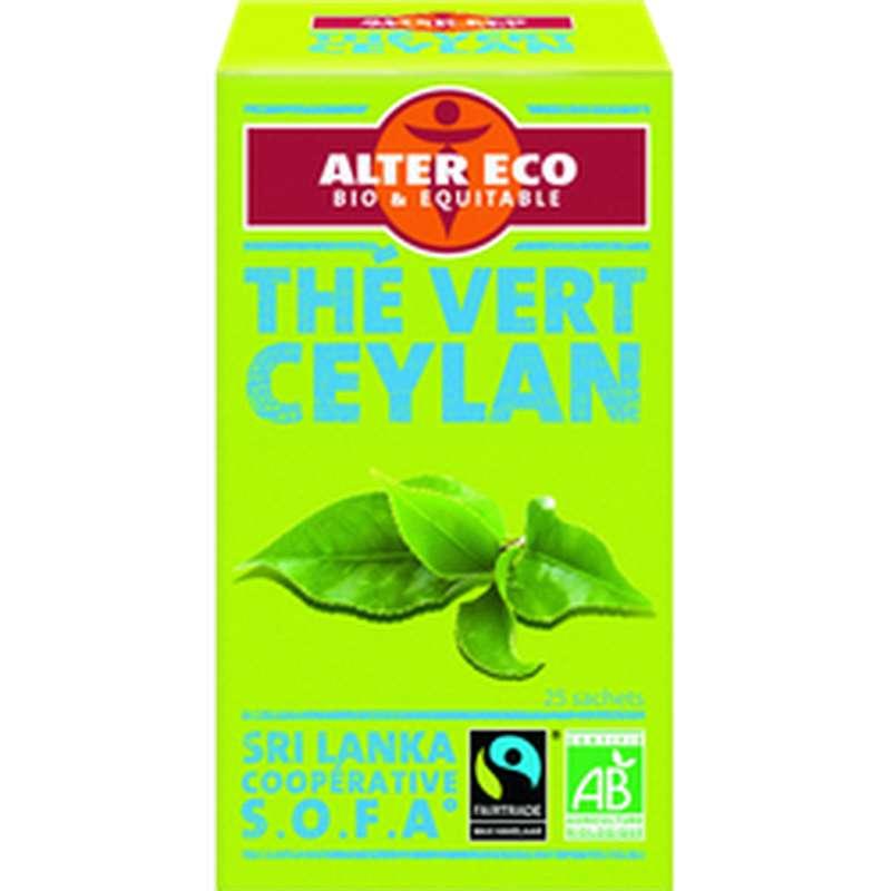 Thé vert Ceylan BIO, Alter Eco (40 g)