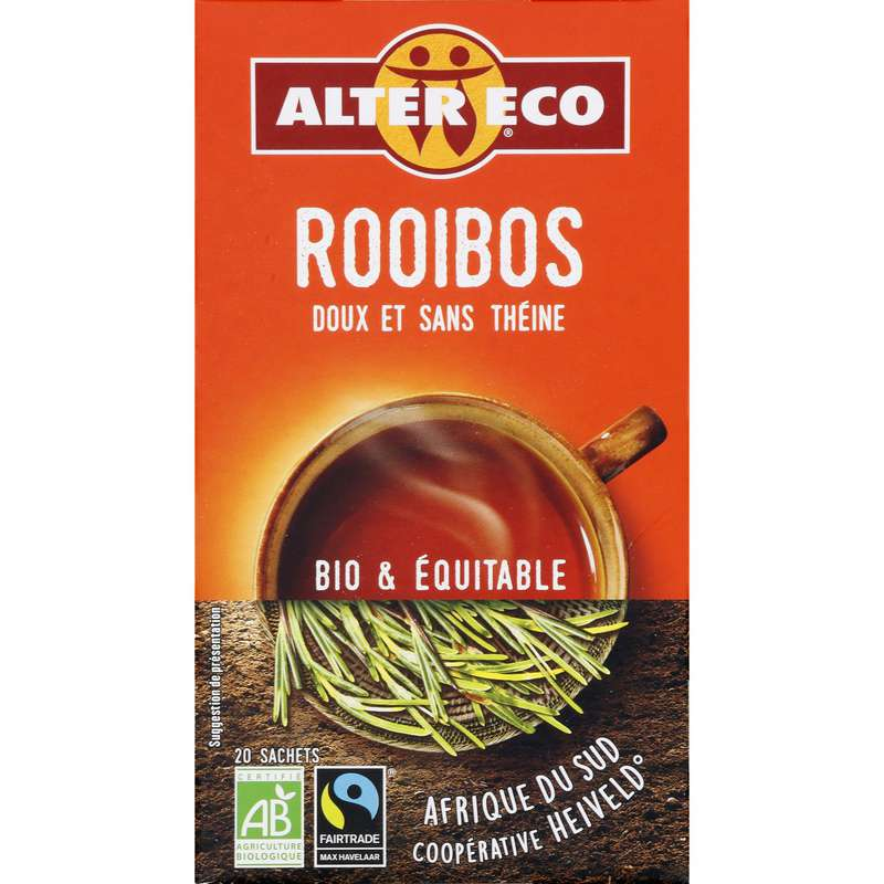 Infusions rooibos nature BIO, Alter Eco (20 sachets)