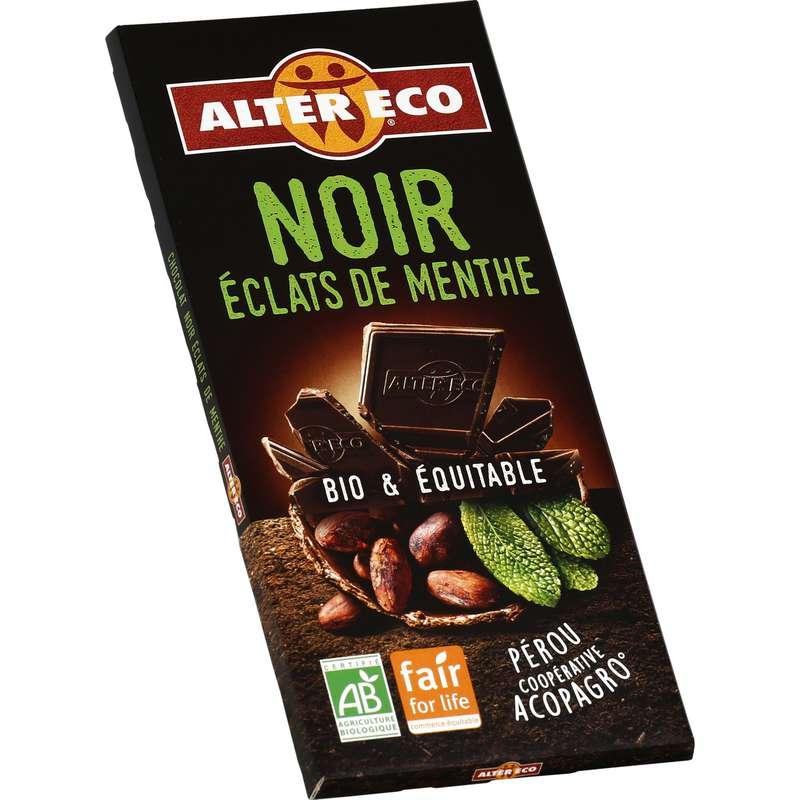 Chocolat noir éclats de menthe BIO, Alter Eco (100 g)