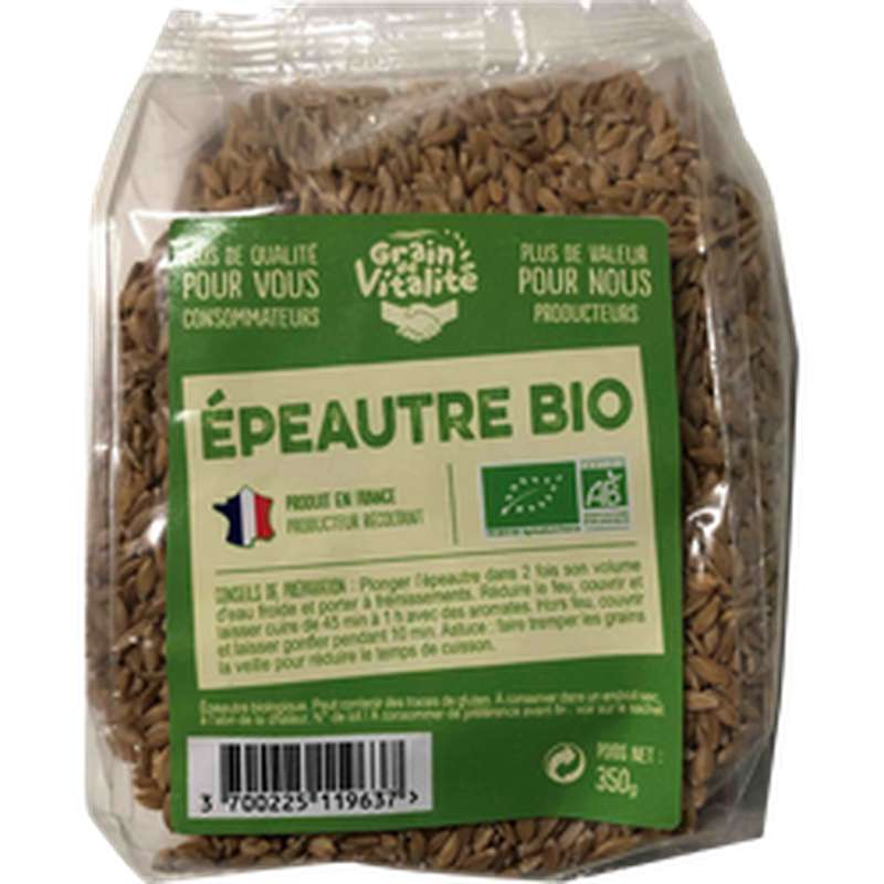 Petit épeautre BIO, Grain Vitalité (350 g)