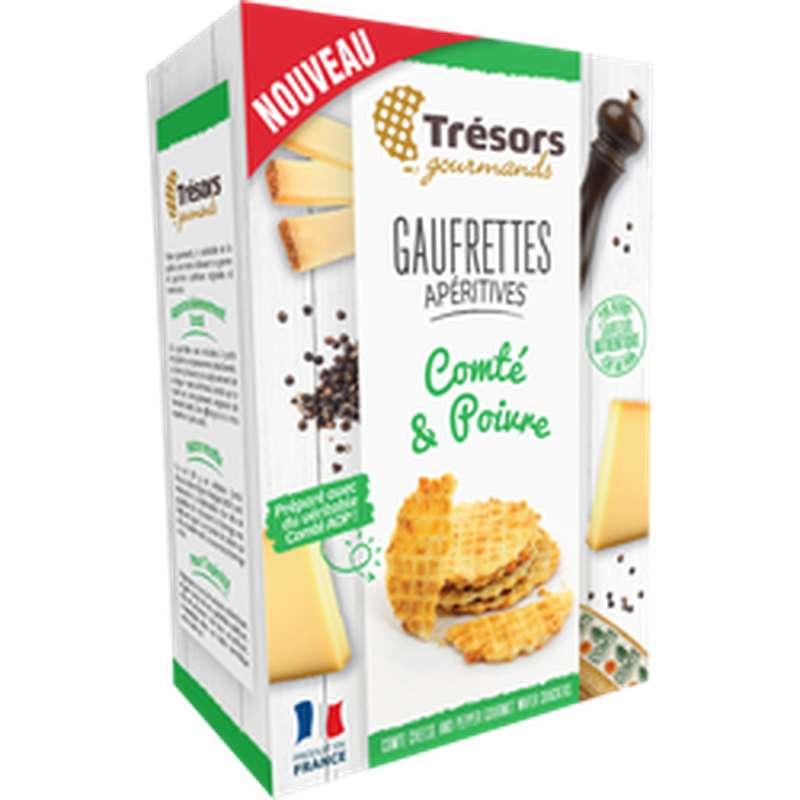 Gaufrettes apéritives Comté Poivre, Tresor Gourmand (60 g)