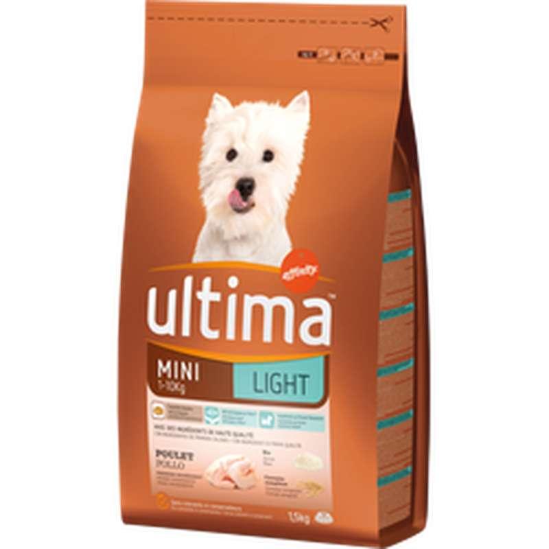 Croquettes light pour chien mini au poulet, Ultima (1,5 kg)