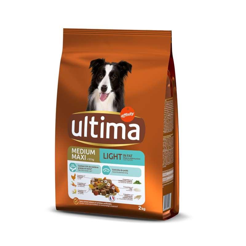 Croquettes chiens repas equilibre light, Ultima (2 kg)