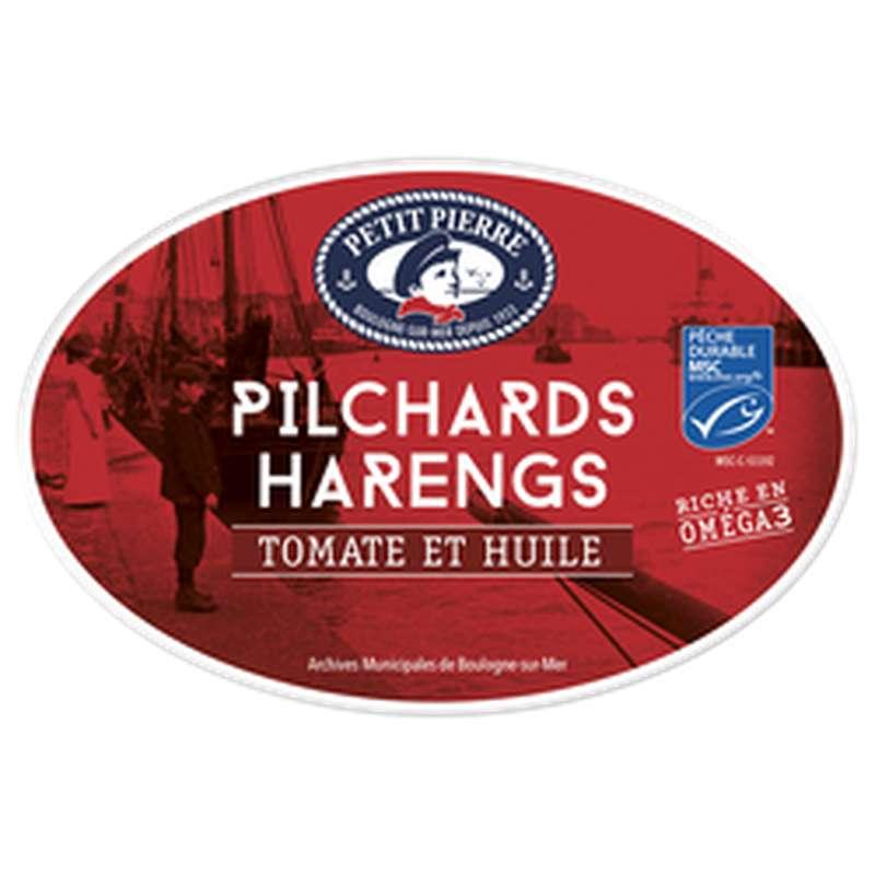 Pilchards de Harengs à la tomate et huile, Petit Pierre (367 g)