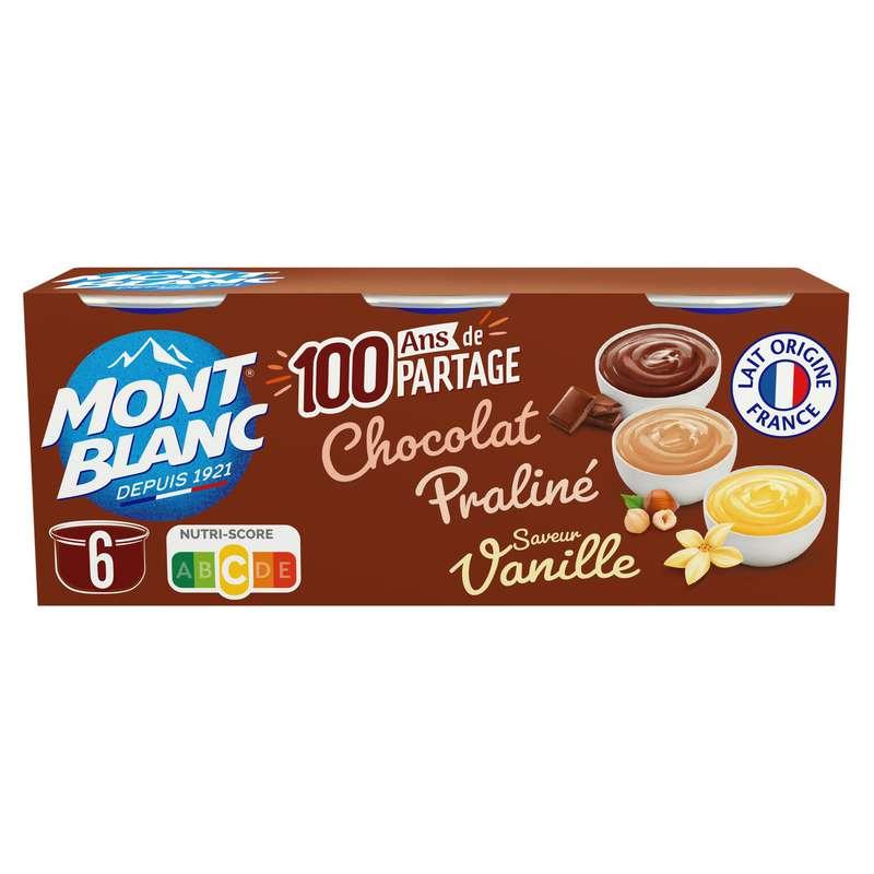 Crèmes dessert multivariétés, Mont Blanc (6 x 125 g)