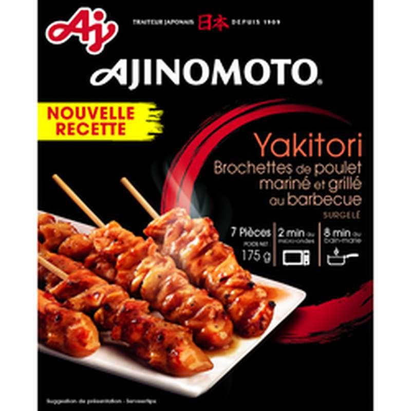 Yakitori brochette poulet mariné & grillé au barbecue, Ajinomoto (175 g)