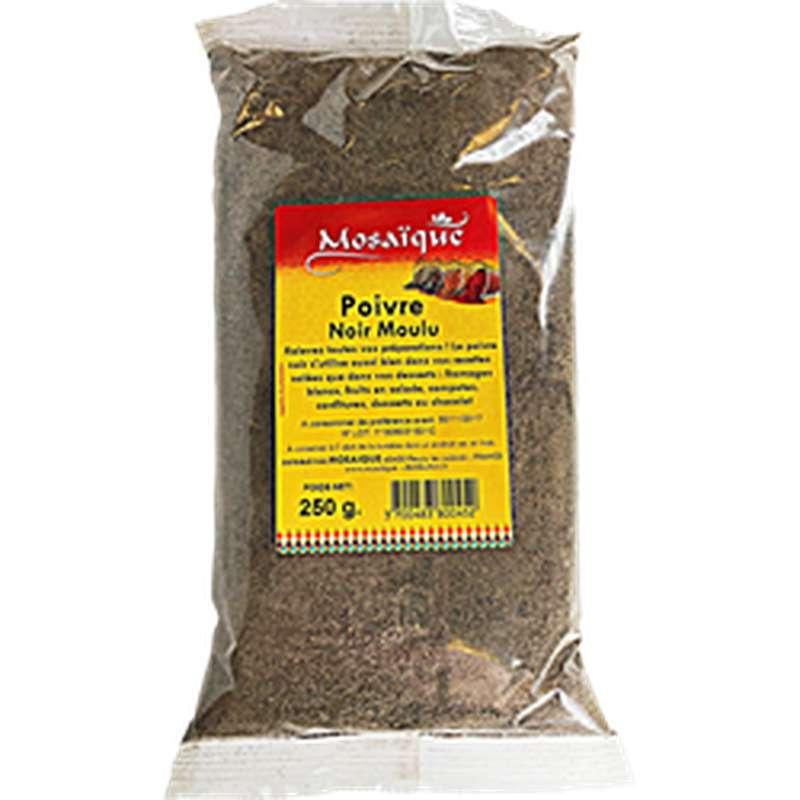 Poivre noir moulu, Mosaïque (250 g)
