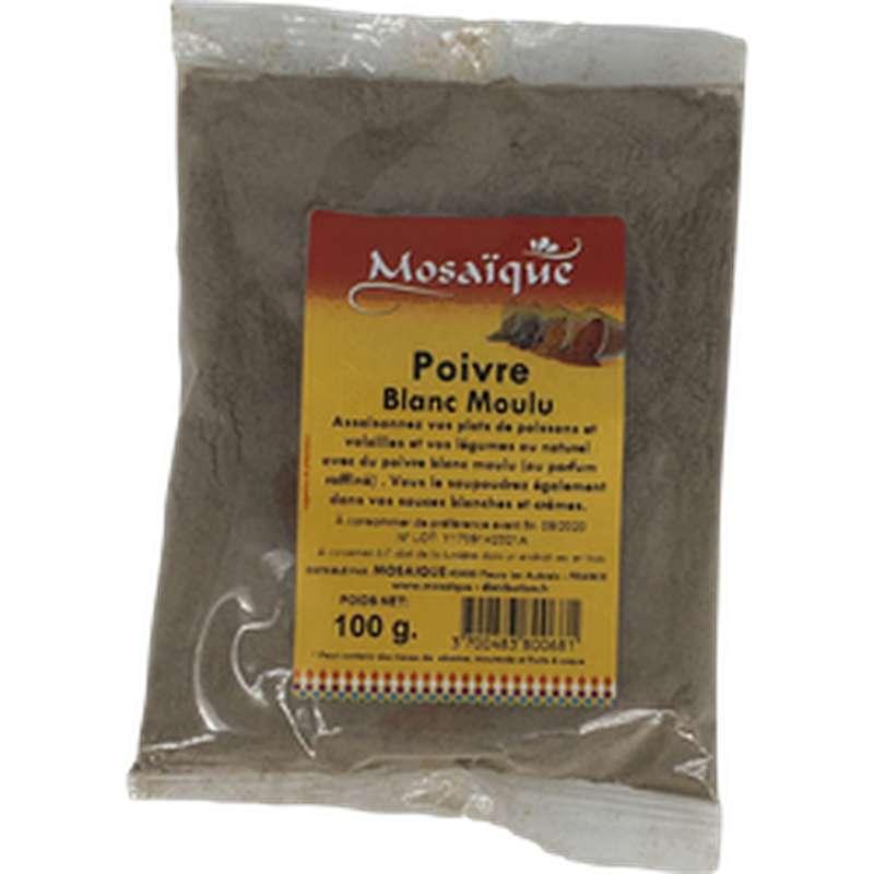 Poivre blanc moulu, Mosaïque (100 g)