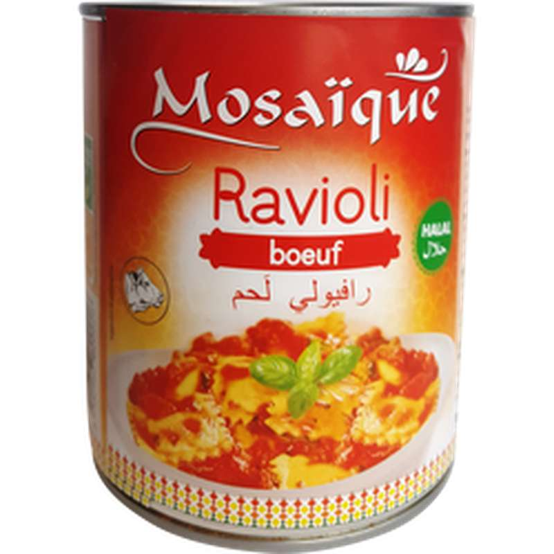 Ravioli pur boeuf Halal, Mosaïque (800 g)