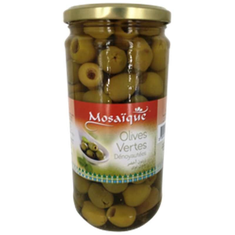 Olives vertes dénoyautées, Mosaïque (350 g)