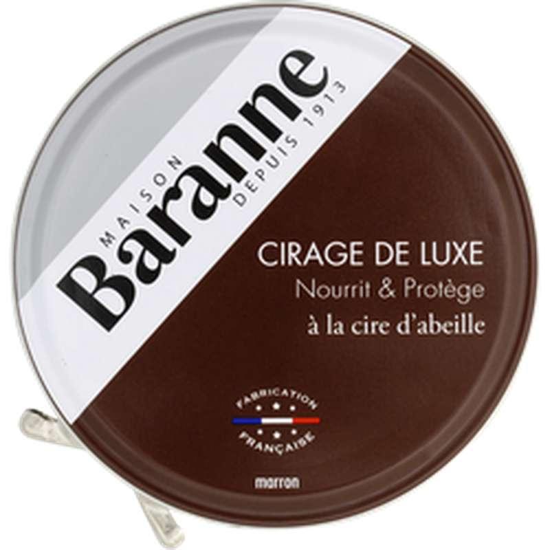 Cirage de luxe à la cire d'abeille marron, Baranne (75 ml)