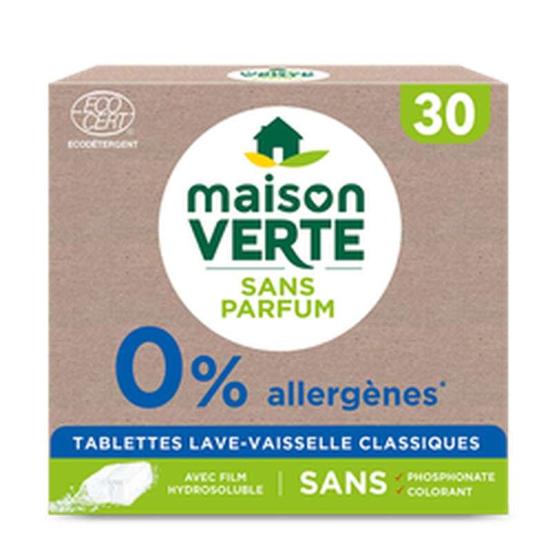 Tablettes 0% Tout en 1, Maison vert (x30l)