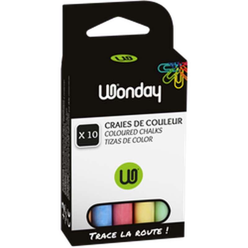 Craie de couleur, Wonday (x 10)
