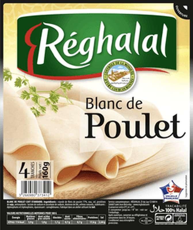 Blanc de poulet Halal, Reghalal (4 tranches, 160 g)