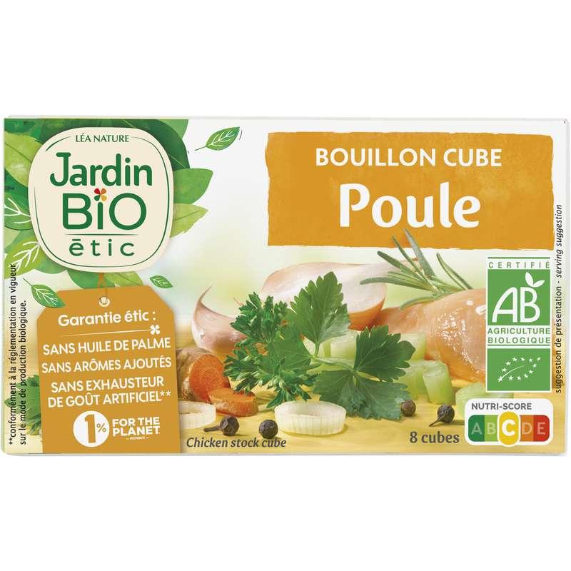 Bouillon cube de poule BIO, Jardin Bio (x 8, 10 g)