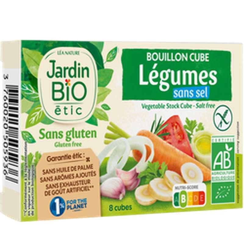 Bouillon cube légumes sans sel et sans gluten BIO, Jardin Bio étic (72 g)