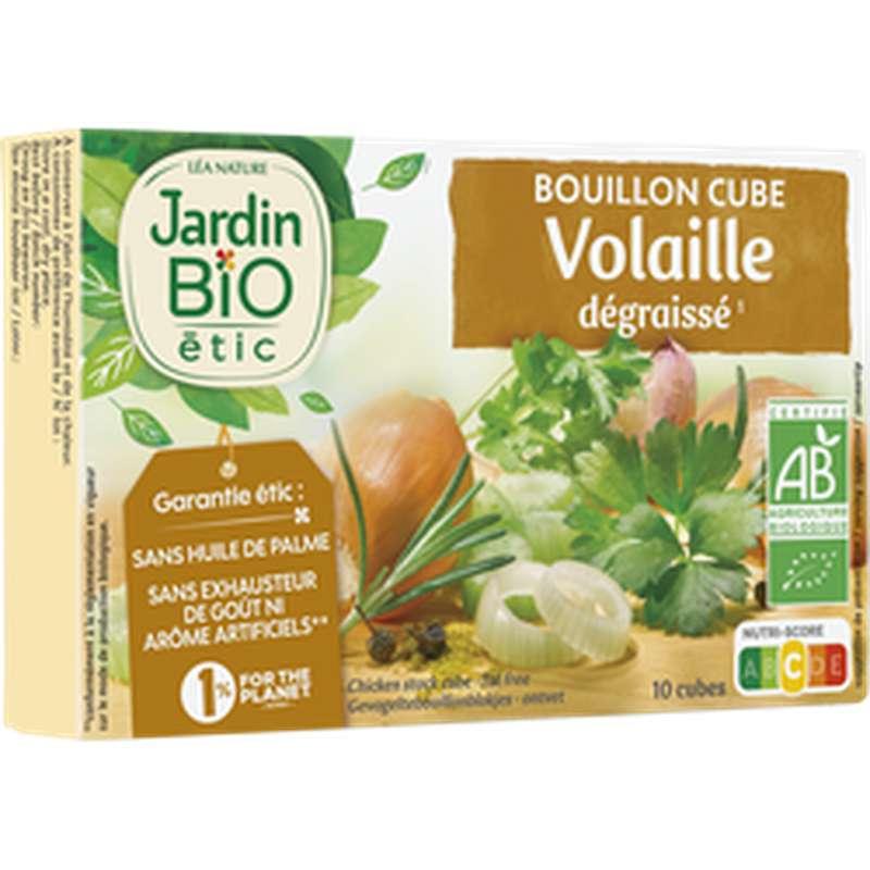 Bouillon cube de volaille dégraissé sans huile de Palme BIO, Jardin Bio (10 g)