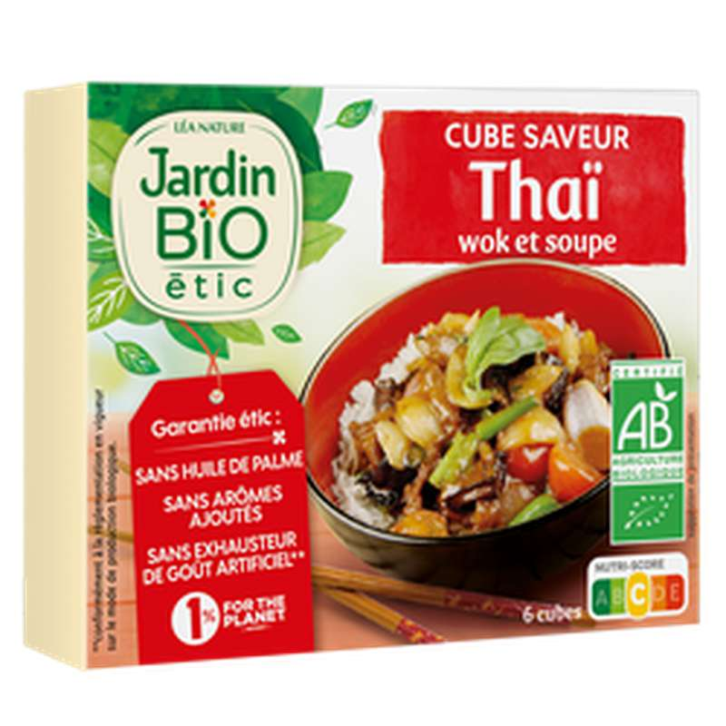 Bouillon cube saveur thaï BIO, Jardin Bio étic (66 g)