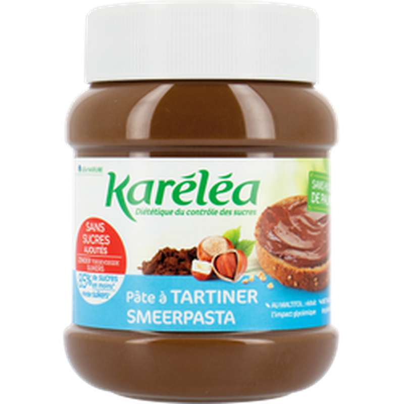Pâte à tartiner noisettes et cacao sans sucre ajouté sans huile de palme, Karéléa (400 g)