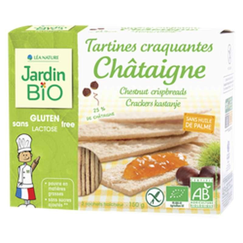 Tartines craquantes châtaigne sans gluten BIO, Jardin Bio (150 g)