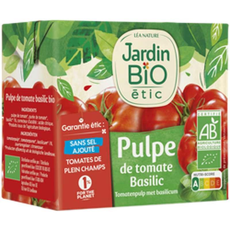 Pulpe de Tomate et Basilic BIO, Jardin Bio (500 g)