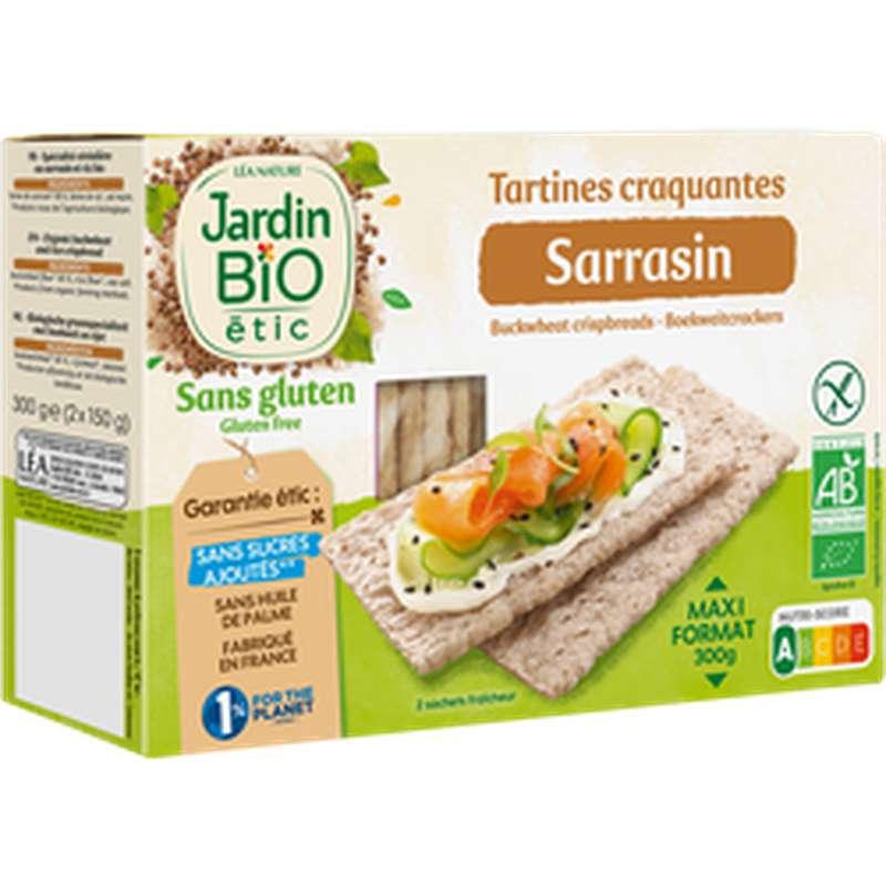 Tartines craquantes sarrasin sans gluten BIO, Jardin Bio étic (300 g)