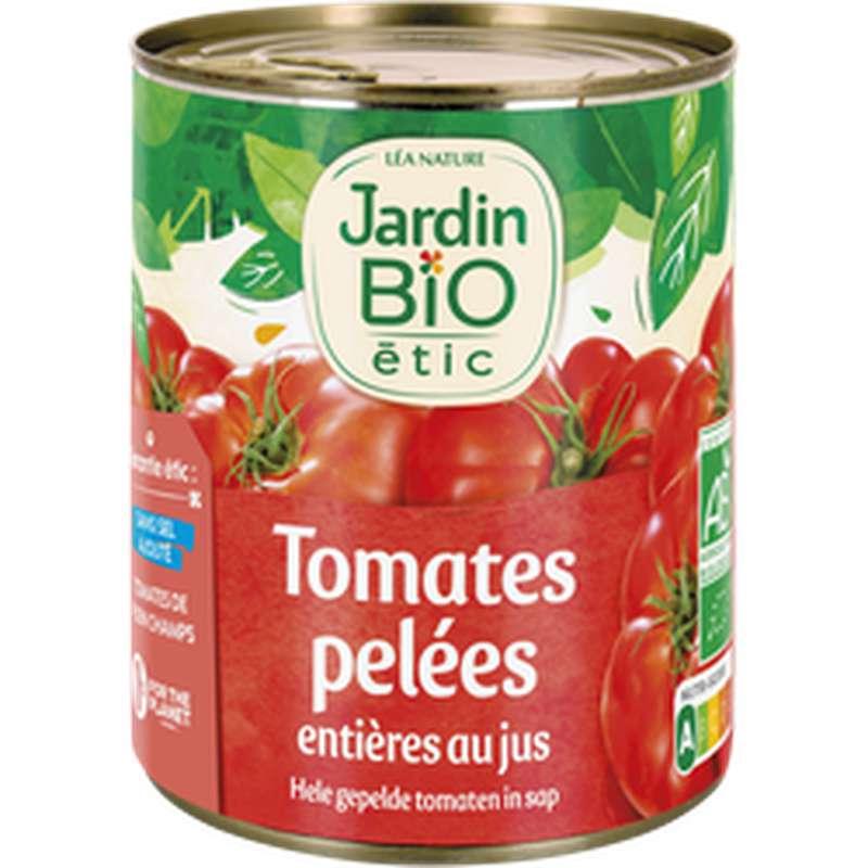 Tomates pelées entières au jus BIO, Jardin Bio (800 g)