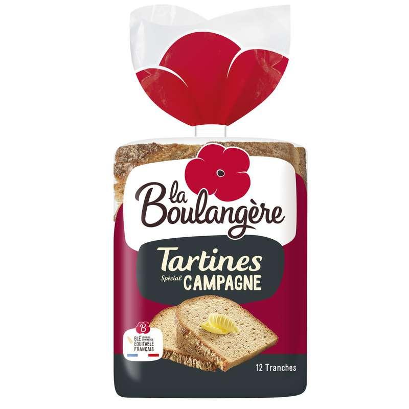 Pain tartines spécial Campagne, La Boulangère (x 12, 450 g)