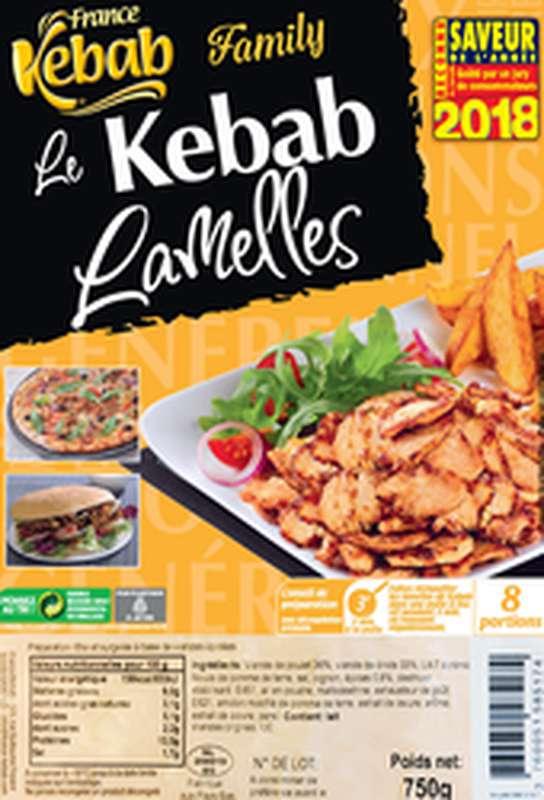 Lamelles de Kebab poulet et dinde, France Kebab (750 g)