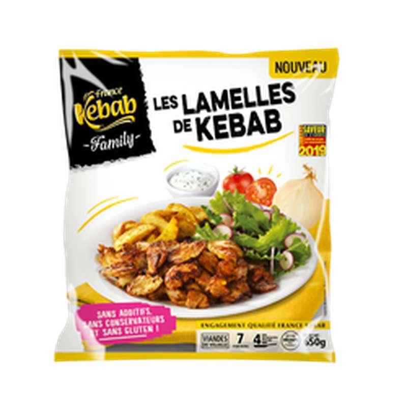 Lamelle de Kebab family Volaille sans phosphate, France Kebab (650 g)