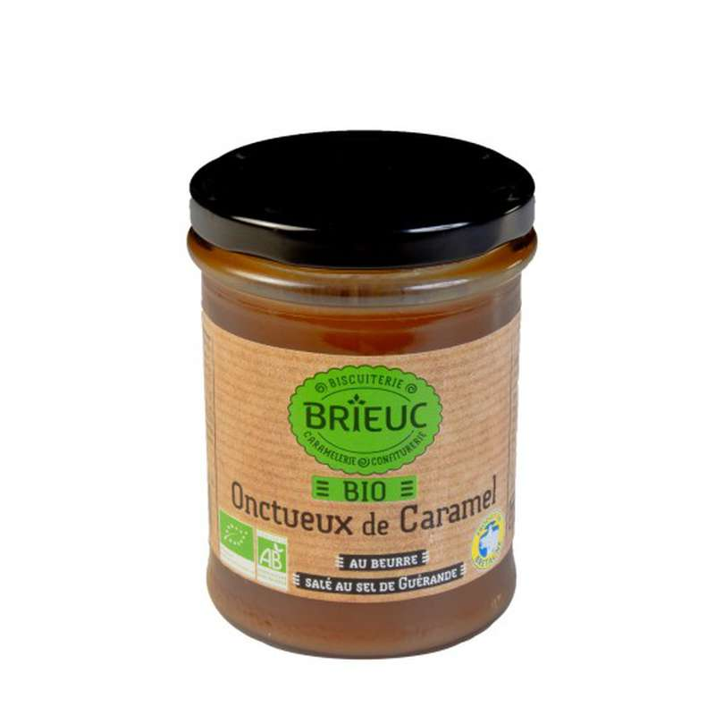 Confiture de caramel au beurre salé au sel de Guérande BIO, Brieuc (220 g)