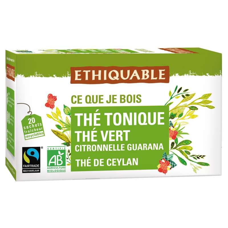 Thé vert au guarana BIO, Ethiquable (20 sachets)