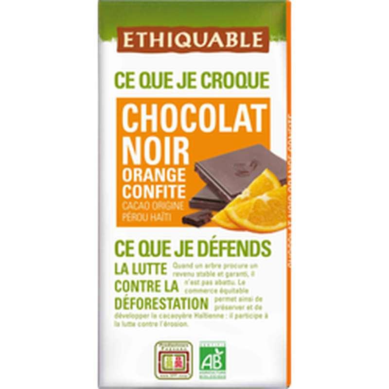 Chocolat noir et orange confite BIO, Ethiquable (100 g)