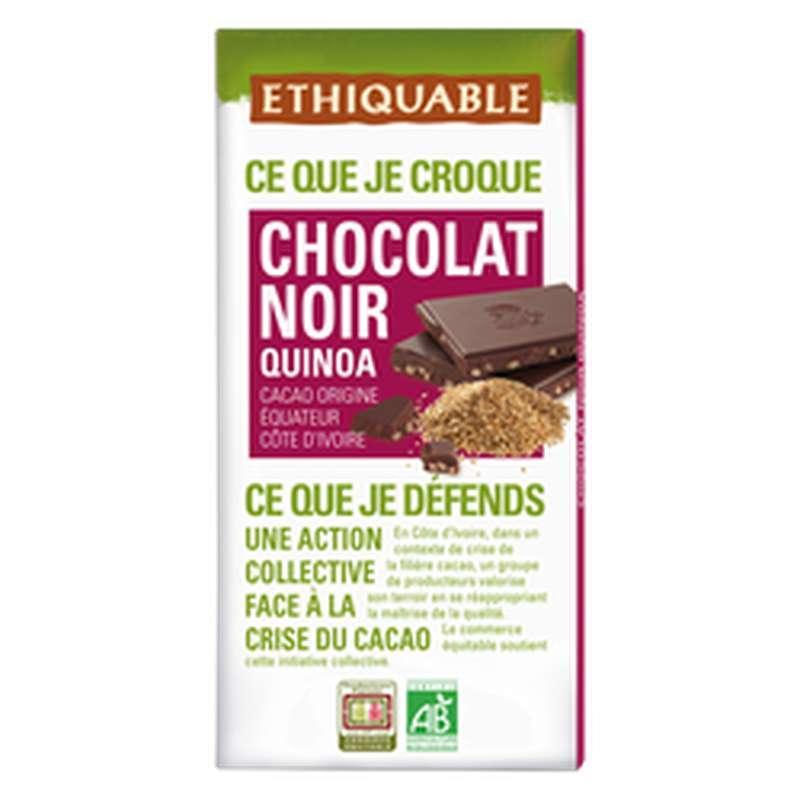 Chocolat noir et quinoa soufflé BIO, Ethiquable (100 g)
