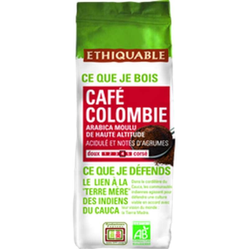 Café moulu Colombie BIO, Ethiquable (250 g)