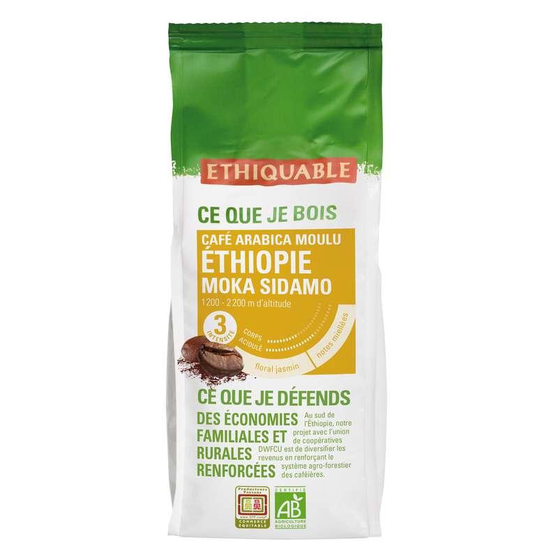 Café moulu moka Ethiopie BIO, Ethiquable (250 g)