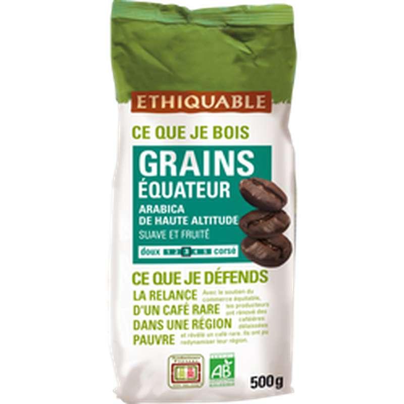 Café en grains Arabica origine Equateur BIO, Ethiquable (500 g)