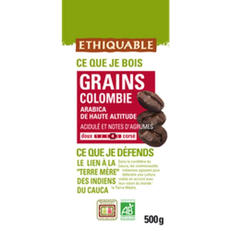 Café en grains Arabica origine Colombie BIO, Ethiquable (500 g)