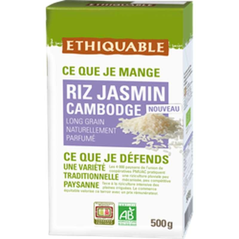 Riz blanc au jasmin Cambodge BIO, Ethiquable (500 g)