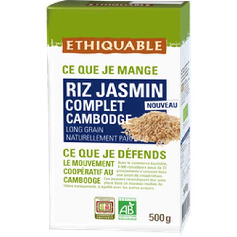Riz complet au jasmin Cambodge BIO, Ethiquable (500 g)