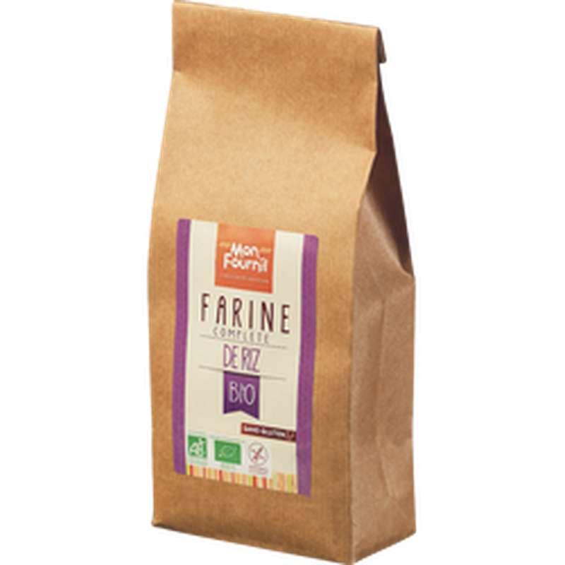 Farine complète de riz sans gluten BIO, Mon Fournil (400 g)