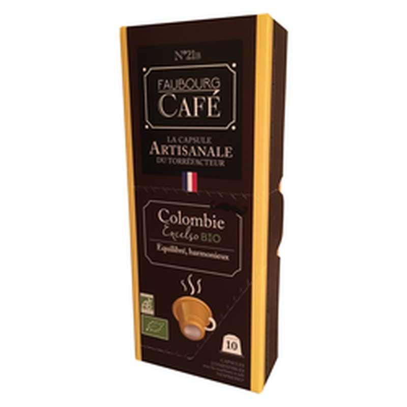 Café capsules de Colombie BIO, Faubourg (x 10, 53 g)