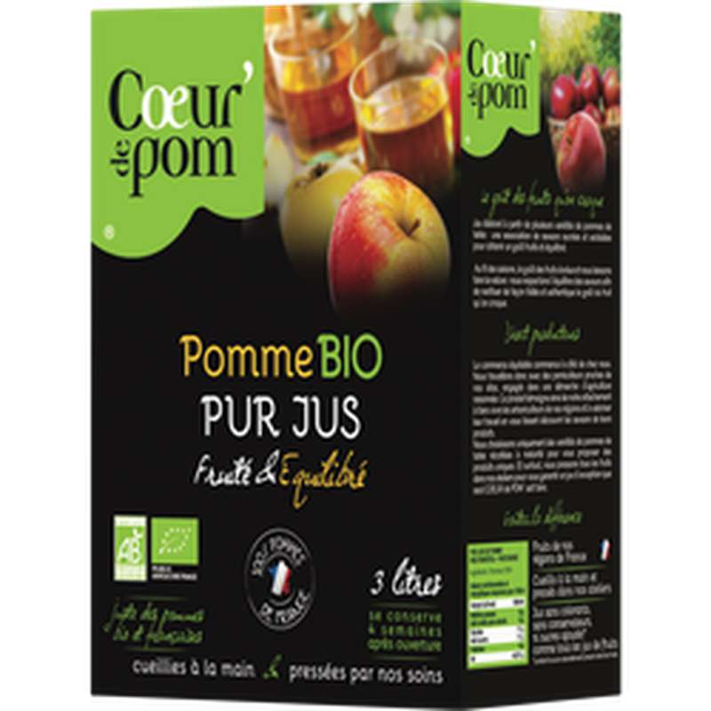 Pur jus de pomme BIO, Coeur De Pom' (3 L)