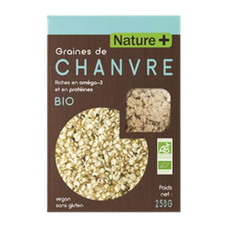 Graines de chanvre BIO, Nature + (250 g)