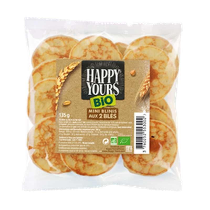 Minis blinis aux 2 blés BIO, Happy Yours (x 16, 135 g)