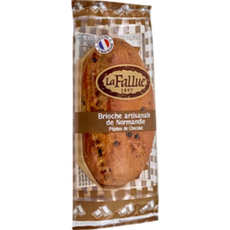 Brioche artisanale de Normandie aux pépites chocolat, La Fallue (300 g)