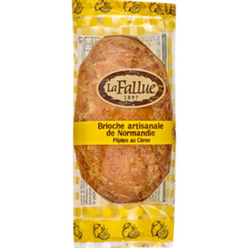 Brioche artisanale de Normandie aux pépites citron, La Fallue (300 g)